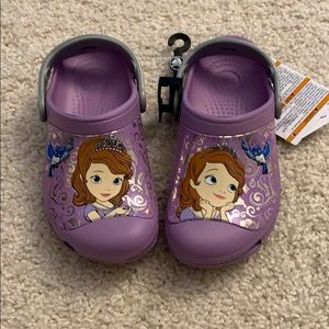 Brand NEW. Sofia the first Crocs